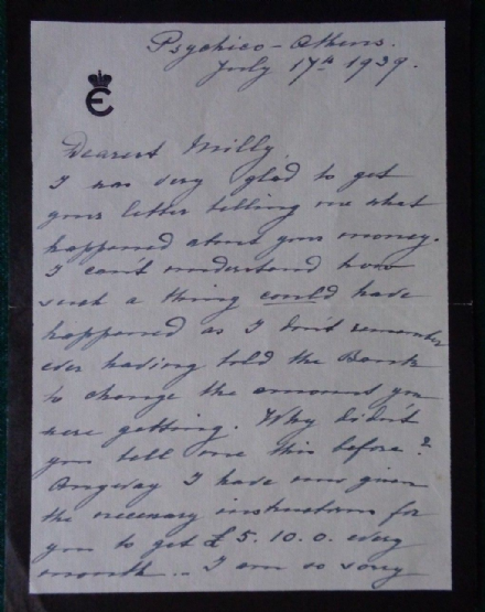 Grand Duchess Elena Romanov Russia Princess Greece Antique Signed Letter Nanny